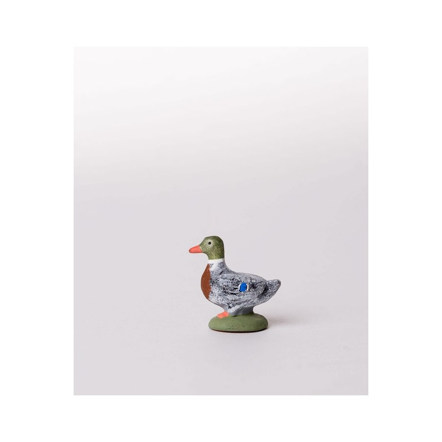 Santon le canard debout gris