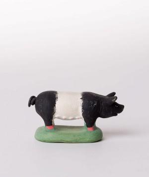 Santon la truie noire et blanche