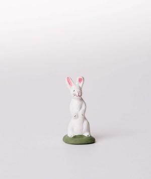 Santon le lapin debout blanc