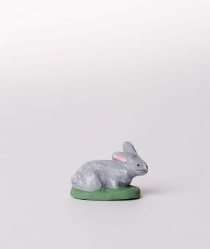 Santon la lapine couchée grise