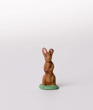 Santon le lapin debout marron