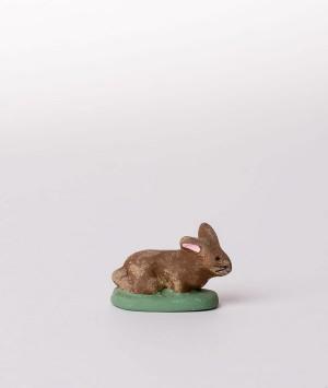 Santon la lapine couchée marron