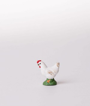 Santon la poule blanche