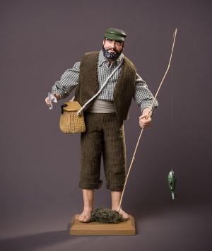 Santon le Pêcheur à la ligne
