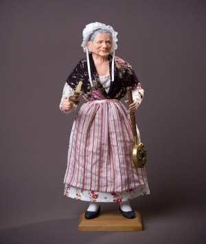 Santon La femme à la bassinoire