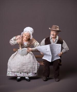 Santon le couple journal aïoli