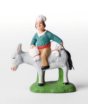 Santon le meunier sur l'âne