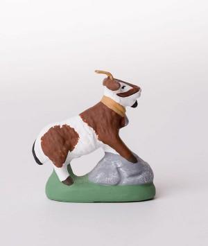 Santon la chèvre broutante marron