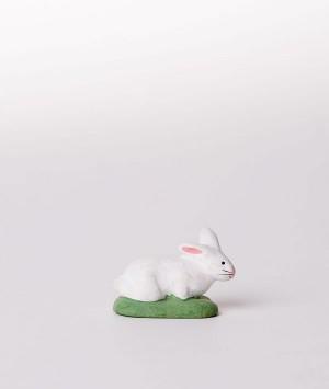 Santon la lapine couchée blanche
