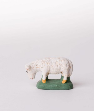 Santon le mouton broutant