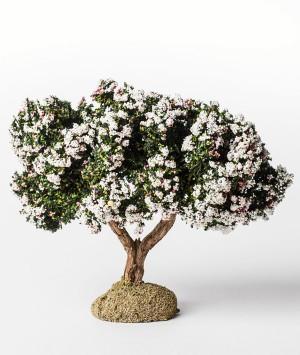Arbre floqué fleuri blanc