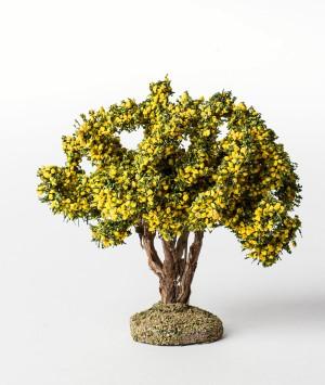 Arbre floqué mimosa