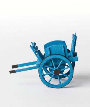 Charrette bleu