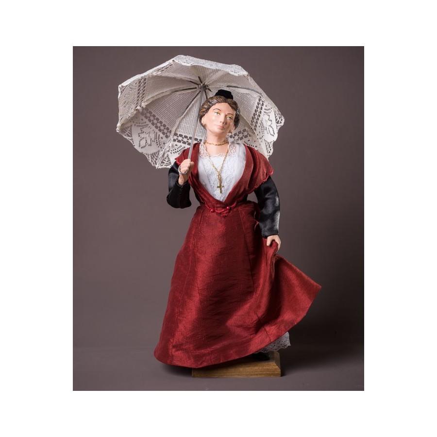 Santon l'Arlésienne ombrelle