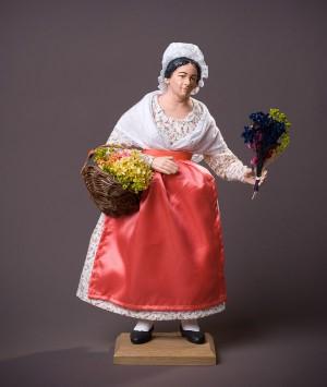 Santon la Femme aux fleurs