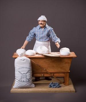 Santon le Boulanger pétrin