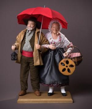 Santon le Couple parapluie
