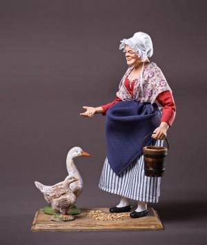 Santon la gardienne d'oie