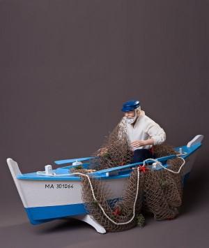 Santon le Pêcheur bateau