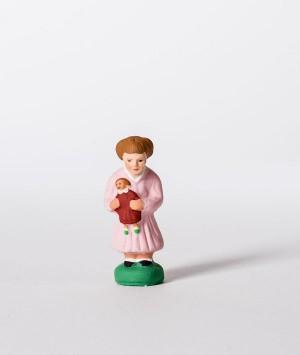 Santon la fillette à la poupée
