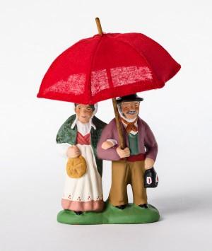 Le couple au parapluie