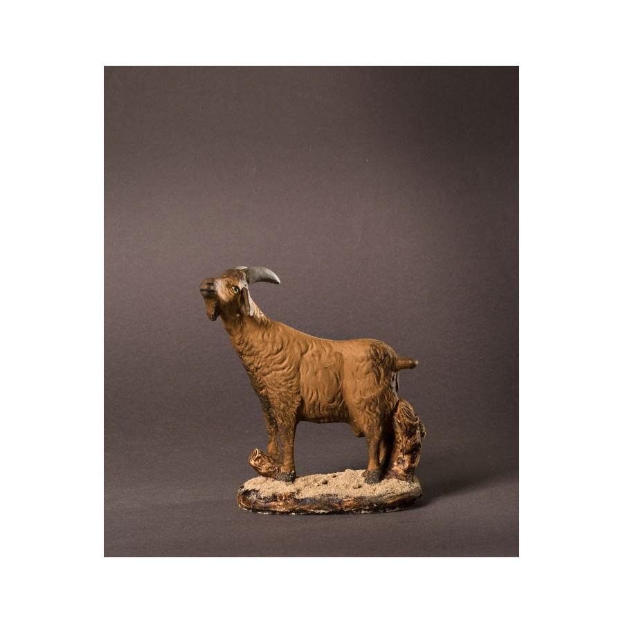 Santon la chèvre marron